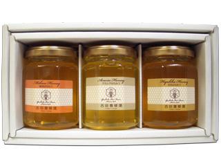 吉田養蜂場 国産蜂蜜160g 3本ギフトセット [はちみつ専門店 Y-BEE FARM]