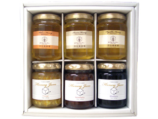 国産蜂蜜&蜂蜜ジャムギフトセット(ジャム3アカシア1百花1ミカン1) [はちみつ専門店 Y-BEE FARM]